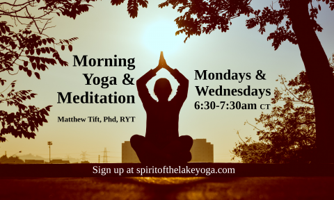Morning Yoga & Meditation class poster