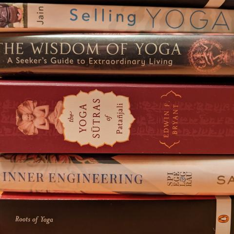 stacked yoga books