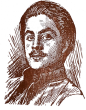 Khalil Gibran self-portrait