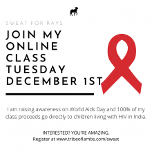 join my world AIDS days yoga class